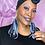 Thumbnail: Fringe Denim Charm Dangled and  Fabric Print Boho, Fashion, Earrings