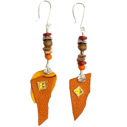 Butter Leather flavored Earrings
