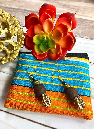 Chocolate Brownie Brown Earrings