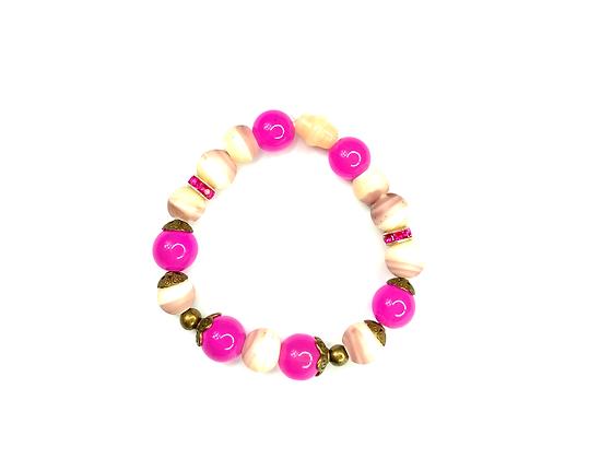 Popular pink soft smoothie beaded bracelet