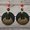 Thumbnail: Charmed  Brass  and Wood Beaded  Style Earrings