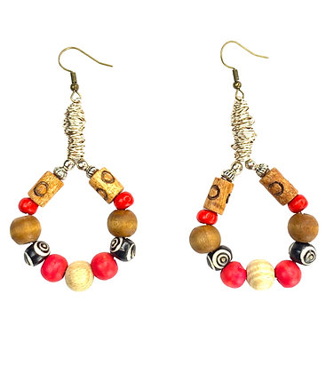 Loopy Tribal Beaded Earrings