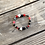 Thumbnail: Macaroni twist boho black and white fashion bracelet