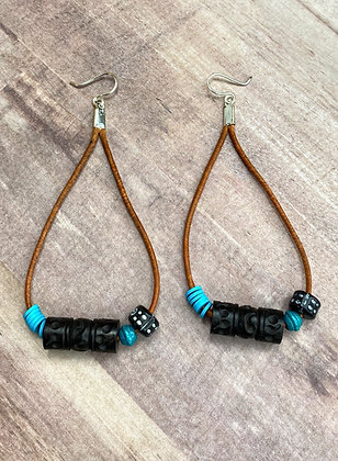 Natural Beauty Leather Cord Earrings