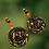 Thumbnail: Copper Lady Dangle Wood Fashion Style Boho Earrings