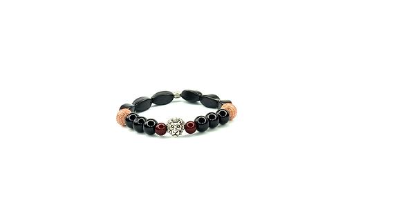 Black Boho lion head with burgundy stand out style sleekness