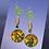Thumbnail: Green Waves And Charm Boho Earrings