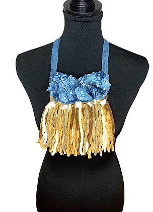 Boho Denim Soft Fluff Necklace