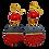 Thumbnail: Cherry and Black Jeweled Wood Earrings