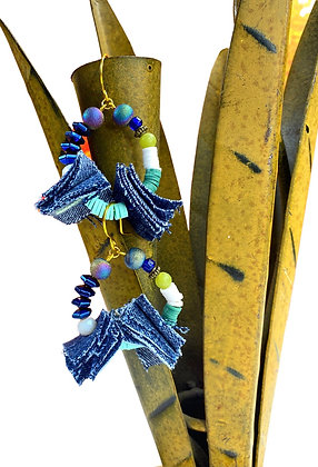 Tricky Sky Denim Earrings