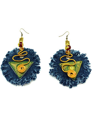 360 Golden Denim Earrings