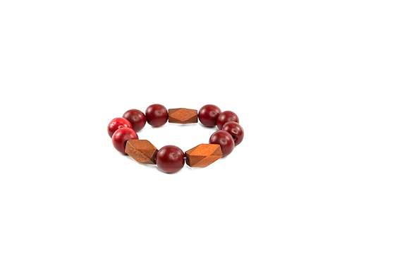 Casual  cranberry brown boho bracelet