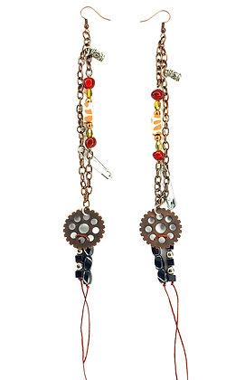 Boho Time Ticking Jeweled Earrings