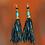 Thumbnail: Flirty Leather Fringe Earrings
