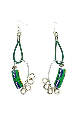 Freedom Drapes African Bead Earrings