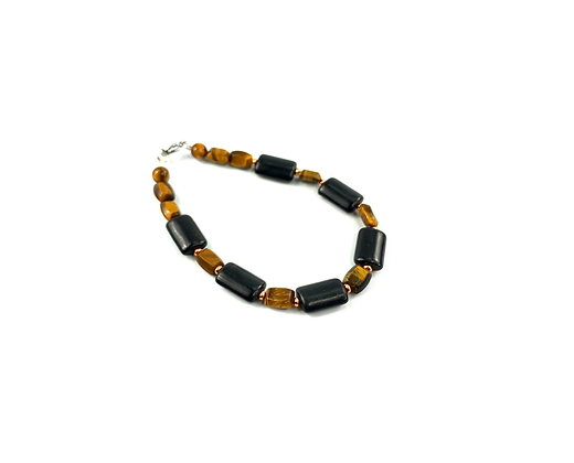 Genuine Tiger Eye beaded bracelet