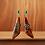 Thumbnail: Perfect Dangle Wood and Denim  Earrings