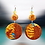 Thumbnail: Glittered faux Stone Beaded Turquoise Copper Earrings