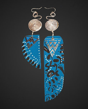 Tribal Leather Blue Skied