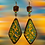 Thumbnail: Hand Painted Marbled Colored Wood Style Fashion Earrings