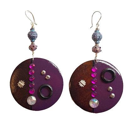 Purple  At Midnight Earrings