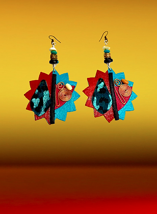 Star Style Copper Abstract Fashion Art Earrings
