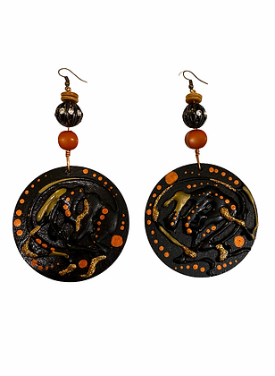 Copper Lady Dangle Wood Fashion Style Boho Earrings