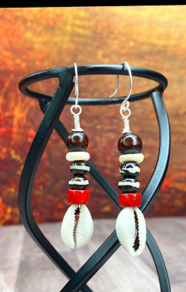 Tribal Dangle Beaded Earrings