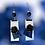Thumbnail: Leather Rose Fashion Fringe Style Earrings