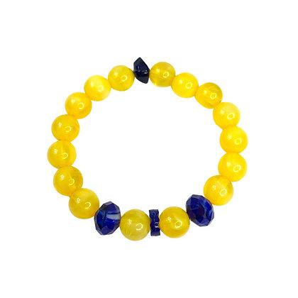 Charming Lemon Slip on Bracelet