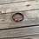 Thumbnail: Hot red black link smooth wrist ready style bracelet