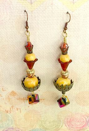 Sassy Ras Jeweled Crowned Earrings