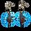 Thumbnail: Shifty Blue Boho Charmed Dangle Wood Earrings