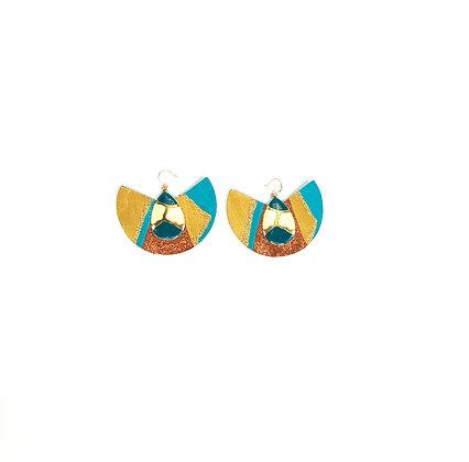 Memmic my beauty leather fashion date night earrings