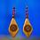 Thumbnail: Wood Lady Sensation Dangle Style Earrings