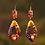 Thumbnail: Chase Lady  Purple Copper Wood Style Earrings