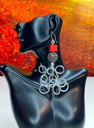 Mazzy Oval Cherry Earrings