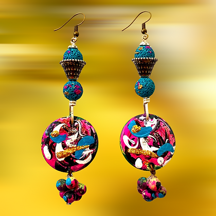 Spiral Capped Style Pop Style Fashion Earrings