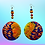 Thumbnail: Sprinkle Of Glory Dangle Wood Fashion Earrings