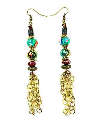 Tinkle Lady Chain Draped Earrings