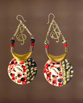 See What I See Bronze Moon Earrings