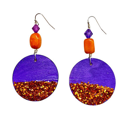 Sexy Passion Purple Slip on Fashion Dangle Earrings