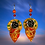 Thumbnail: Abstract  Rare Leather Rose Fashion Style Earrings