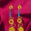 Thumbnail: Blue Golden Dazzling Stylish Wire Earrings
