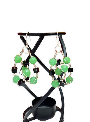 Speedy Green Wire Entangled Earrings