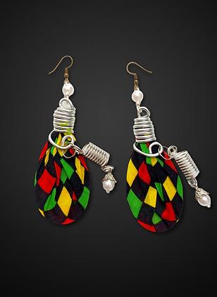 Beautiful Stylish Art Coil Colored Fashion Earrings