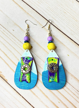 Take A walk Boho Zippy Colored Earrings