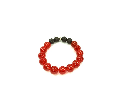 Cherry black bomb boho slip on bracelet