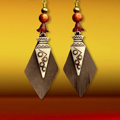Tribal Charm Dangle Style Fashion Earrings