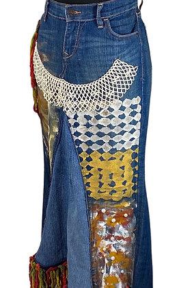 Boho Sweetie Pie Pearl Denim Skirt